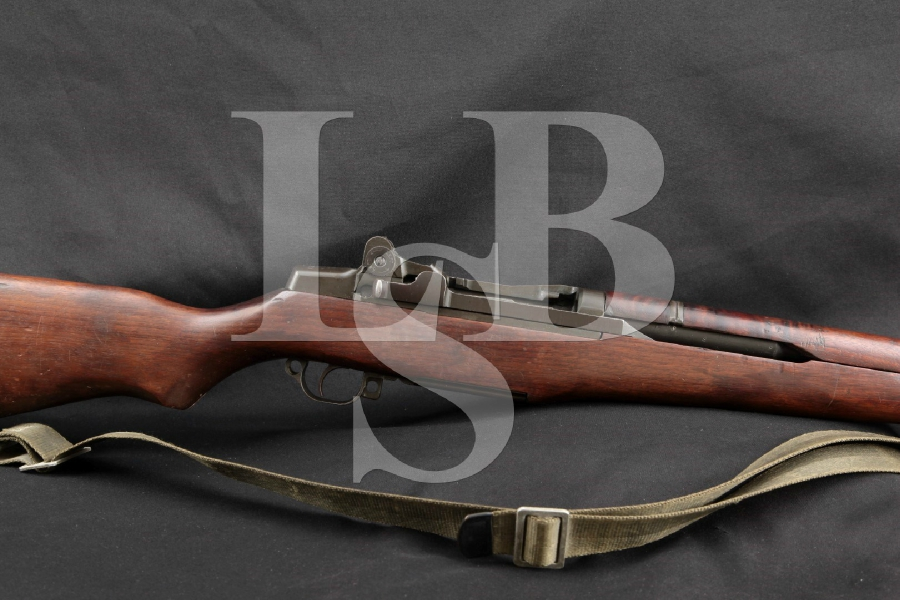 "British, Springfield Armory M1 Garand, Lend Lease, Parkerized 24"" Export Marked Semi Automatic Rifle, MFD 1941 C&R"