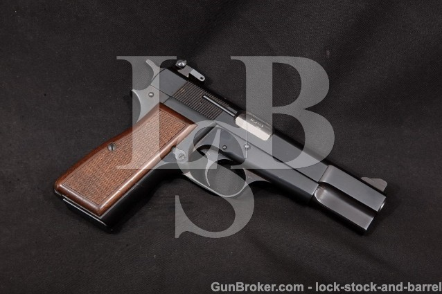Browning Belgian FN High Power Hi-Power P35 9mm Blue 4 5/8″ SA Semi-Automatic Pistol, MFD 1973