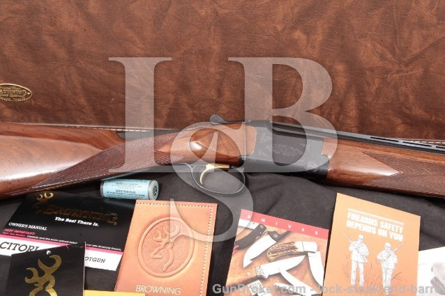 "Browning Citori Upland Special Blue 24"" 20 Gauge Grade I O/U Double Barrel Shotgun & Case, 1999"