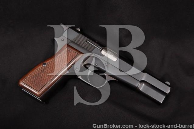 Browning FN Belgian High Hi-Power P35 9mm Luger Blue 4 5/8″ Semi-Auto Pistol, MFD 1972 NO CA