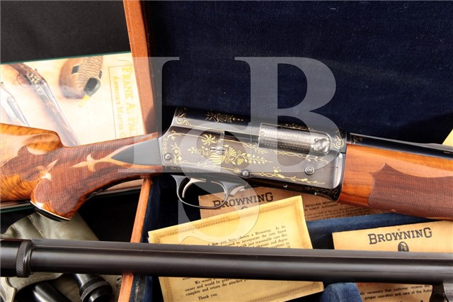Browning FN Belgium Auto-5 A5 Grade 4 Pachmayr Gold Inlay Presentation 16 ga Shotgun 2 Barrel C&R