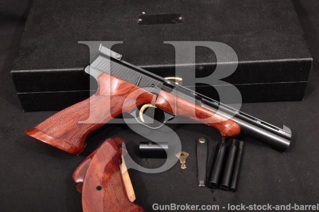 Browning FN Medalist Target, Blue 6″ 1967 C&R Semit-Auto Rimfire Pistol, LH Grip & Case .22 LR
