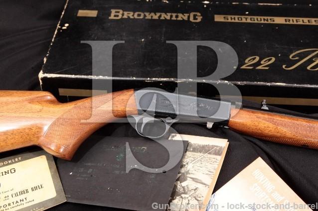 """Browning FN SA22 SA-22 22 Auto Grade I & Box 1965 Blue 19 1/4"""" Takedown Semi-Auto Rifle .22 LR C&R"""