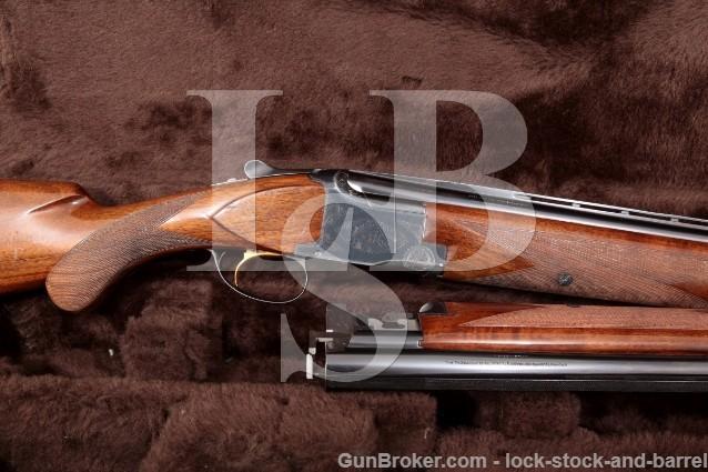 """Browning (FN) Superposed Grade 1 Two Barrel Set Blue 28 & 30"""" O/U Over Under Case Shotgun 1964 C&R"""