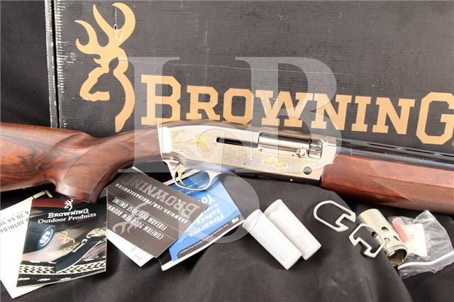 Browning Golden Sporting Clays, Gold & Blue 28″ Semi Automatic Shotgun, Chokes & Box, MFD 2004