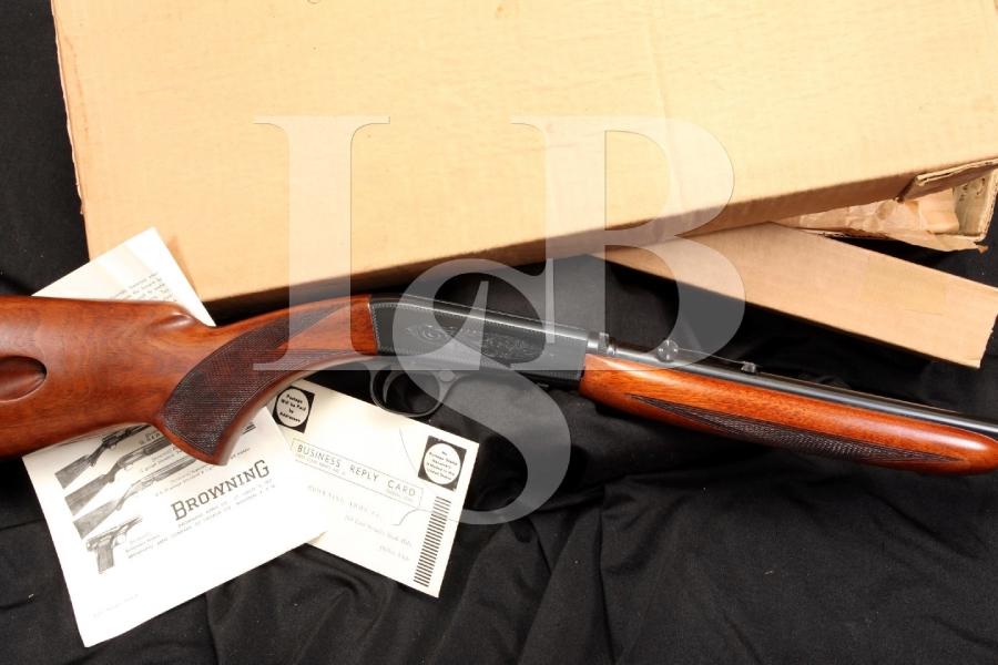 Browning Grade I .22 LR Take Down Semi-Automatic Rifle & Box – 1959 C&R OK