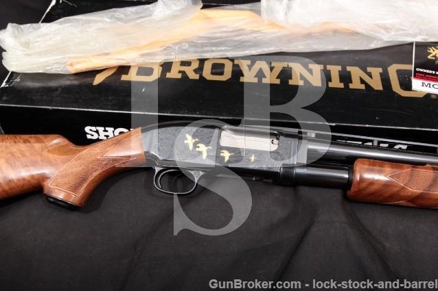 "Browning Model 12 Grade V Blue & Gold 26"" 28 Gauge Ventilated Rib Pump Action Shotgun & Box, MFD 1990"
