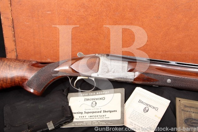 Browning Superposed Pigeon Grade 30″ Vent-Rib SST O/U Double Barrel Shotgun & Case 1965 C&R 12 Gauge