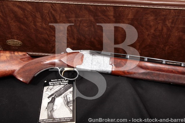 "Browning Superposed Skeet Diana Grade 26"" .410 Ga Blue & Grey Vent-Rib O/U Over-Under Shotgun & Case"