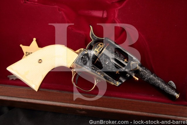 Bryson Gwinnell Engraved Colt Sheriff's Model 1/35 SAA Custom Edition Single Action Army 11-35, C&R OK
