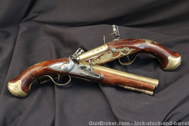Pair of Original Buckmaster London Flintlock Dueling Pistols