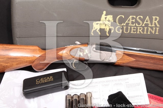 """Caesar Guerini Magnus Light 28"""" 12 GA Shotgun Blue, Alloy & Gold Over Under Shotgun, MFD 2005"""
