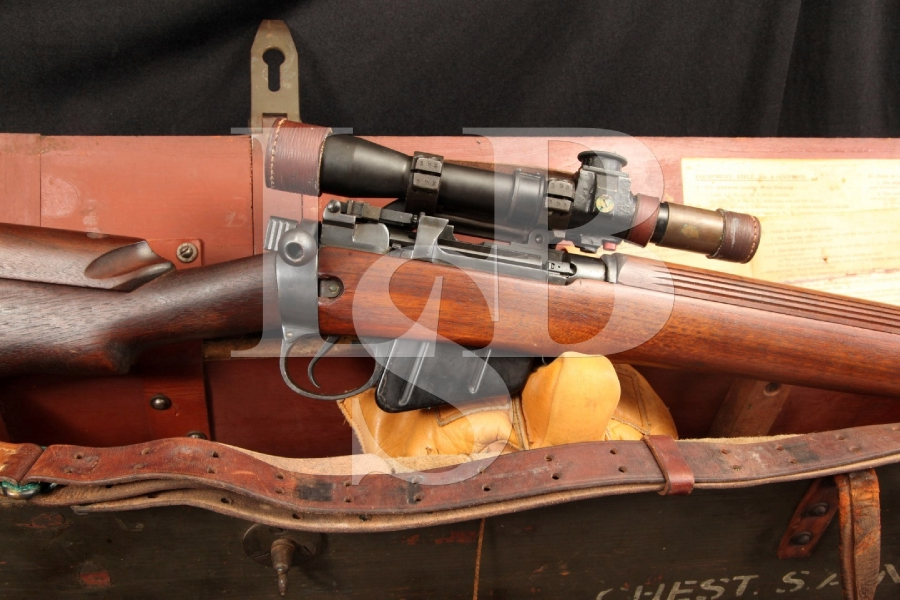 "Cased Enfield BSA No 4 Mk 1 ""T"" .303 British Bolt Action Target / Sniper Rifle - C&R"