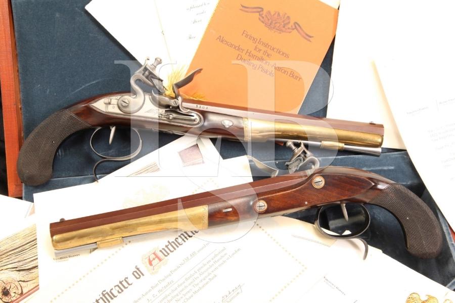 Cased U.S. Historical Society Hamilton-Burr Set 54 Cal Flintlock Dueling Pistols