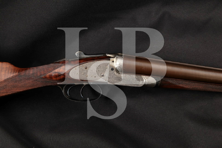 "Charles Boswell Hammerless Sidelock Live Pigeon Model, Blue & Damascus 30"" Side by Side SxS Shotgun, MFD 1904-1925 C&R"