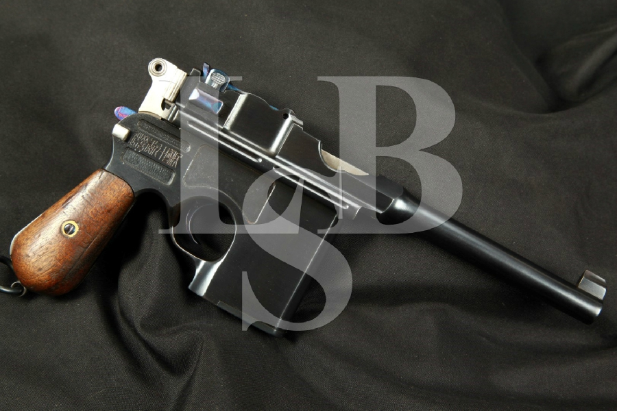 "Chinese Shansei Arsenal Model C96 1896 Broomhandle Mauser .45 ACP SA Semi-Automatic Pistol 5 ¾"" Restored, Matching Numbers, MFD 1930 C&R"