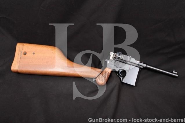 Chinese Shanxi Model 17 Broomhandle Hand Cannon .45 ACP Semi-Automatic Pistol & Stock, MFD 1980's