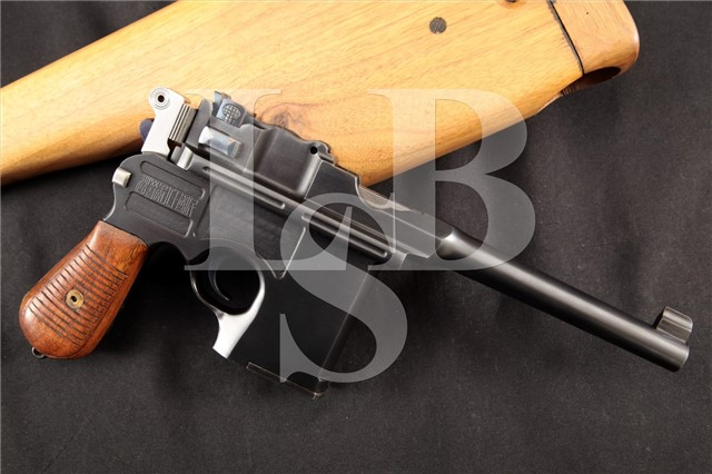 "Chinese Shanxi Type 17 Broomhandle ""Hand Cannon"" Shansi Shansei Arsenal .45 ACP C96 Pistol & Stock"