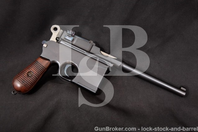 Chinese Taku Naval Dockyard C96 Broomhandle 7.63mm Type II Flatside Large Ring Pistol 1928-29 C&R