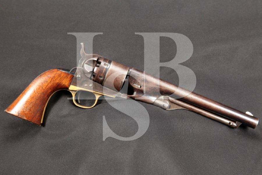 "Civil War Era Colt Army Model C1860 Blue 8"" Percussion Single Action Revolver MFD 1864 Antique"