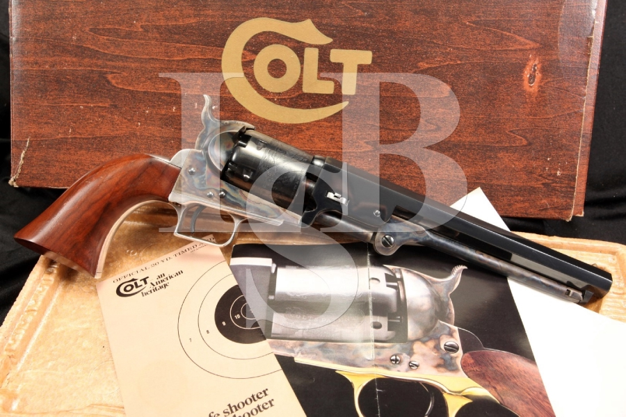 Colt 1851 Navy C Series .36 Ca — Black Powder Percussion Revolver & Box – Antique