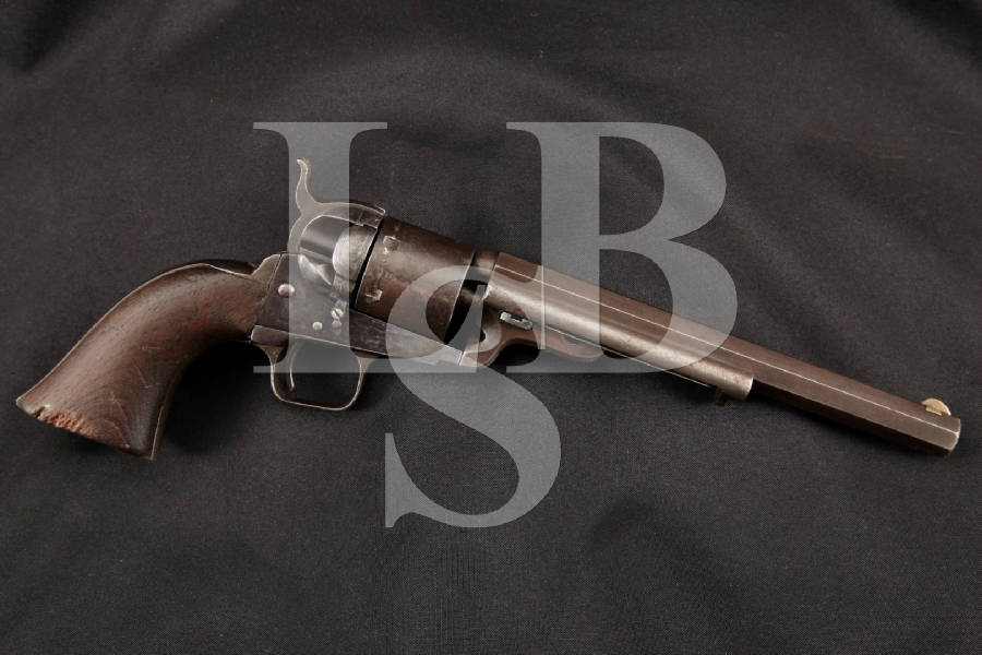 "Colt 1851 Navy, Scarce Richards-Mason Conversion, U.S. Marked, Blue & Case Colored 7 ½"" 6-Shot, Single Action Revolver, MFD 1856 Antique"