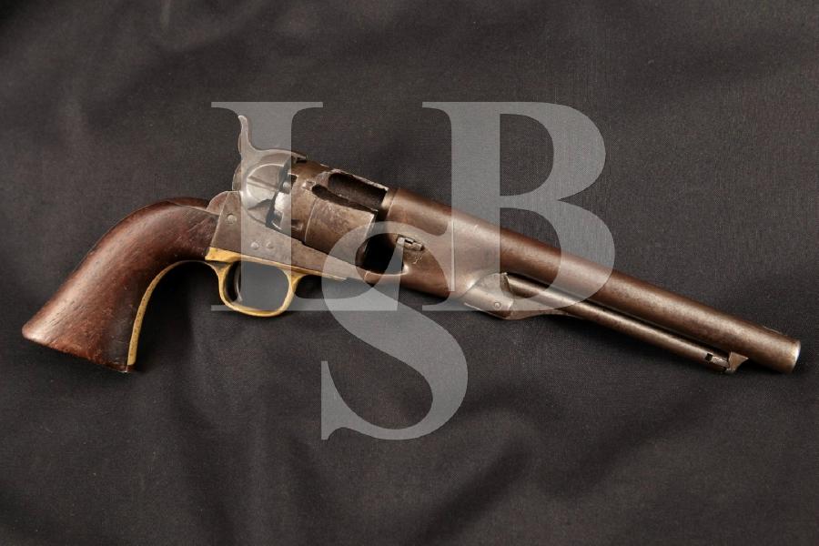 "Colt 1860 Army, Named R.F. Newcomb Port Hudson Siege 1863, Parts Matching Blue 8"" SA 6-Shot Single Action Revolver, MFD 1862 Antique"