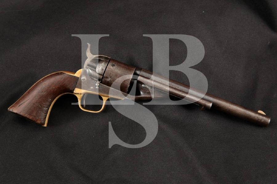 "Colt 1861 Navy, Scarce Richards-Mason Conversion, Blue & Case Colored 7 ½"" 6-Shot, Single Action Revolver, MFD 1870's Antique"