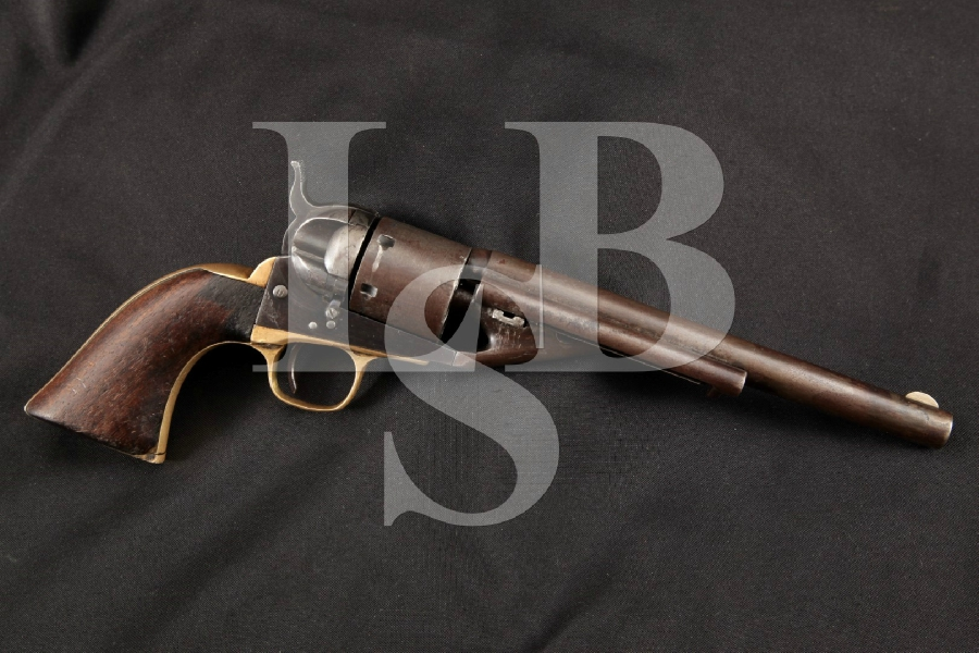 "Colt 1861 Navy, Scarce Richards-Mason Conversion, Blue & Case Colored 7 ½"" 6-Shot, Single Action Revolver, MFD 1862 Antique"