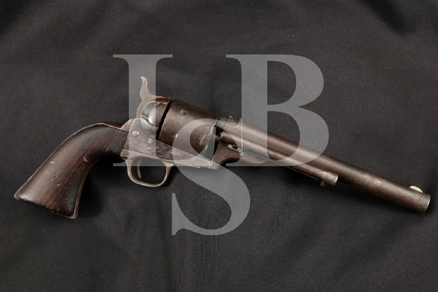 """Colt 1871-1872 Open Top Frontier Model, Parts Matching, Nickel 7 ½"""" 6-Shot, Single Action Revolver, MFD 1872 Antique"""