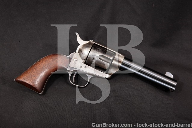 "Colt 1873 SAA Early Black Powder Antique Revolver 2nd Year 4 3/4"" Single Action Army, 1874 .45 Colt"
