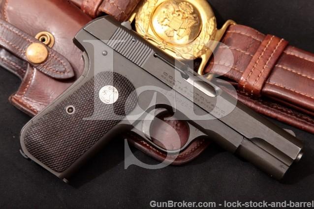 Colt 1903 Type V U.S. Property Pocket Hammerless .32 ACP Parkerized Semi-Auto Pistol & Holster 1944