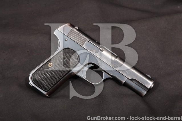 "Colt 1908 Shanghai Municipal Police MFD 1932 C&R Blue 3 3/4"" Semi-Auto Pistol .380 ACP W/ Magazine"