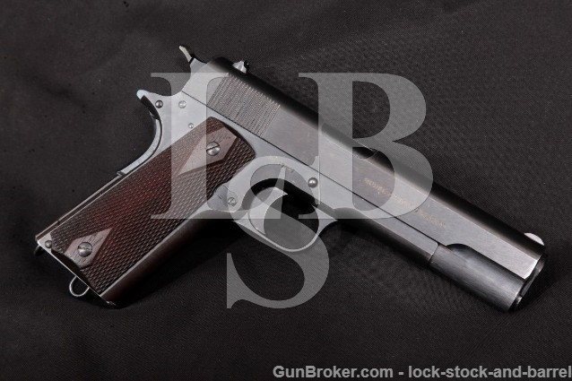 "Colt 1911 Government U.S. Army Marked .45 ACP Blue, 5"" Semi-Automatic Pistol, MFD 1917 C&R"