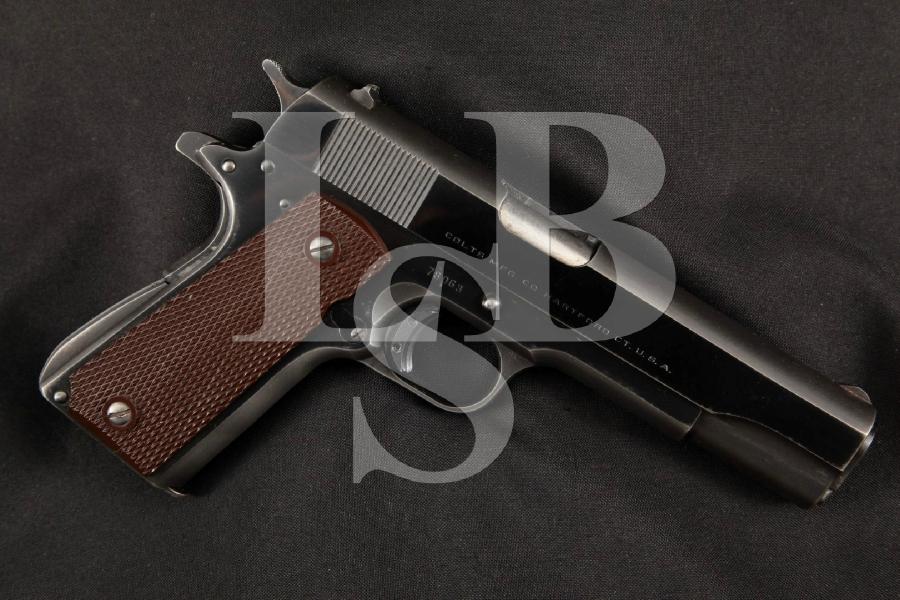"Colt 1911A1 1911-A1 3rd Model, Blue 5"" SA Semi-Automatic Target Pistol, MFD 1949 C&R"