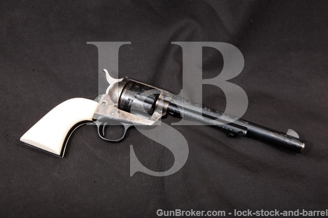 Colt 1st Gen Early Smokeless SAA Engraved 1904 C&R Blue & Case Single Action Army Revolver, .45 Colt