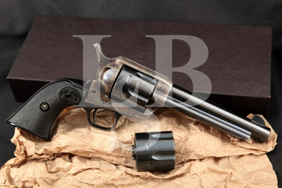 "Colt 1st Generation Frontier Six-Shooter SAA Convertible, Blue & Case Colored 5 ½"" Single Action Army Revolver & Box, MFD 1923 C&R"