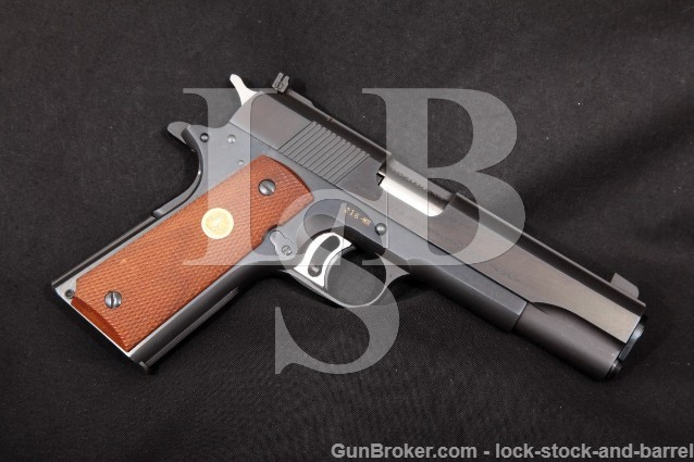 "Colt 1st Mod Gold Cup National Match .38 Mid-Range Blue 5"" SA Semi-Automatic Target Pistol, 1960 C&R"