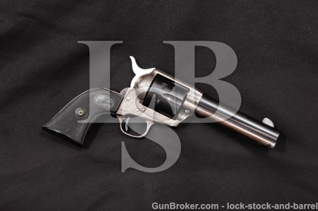 Colt 2nd Gen Single Action Army SAA, 4 3/4″, 1957 Blue & Case Color Revolver, C&R .38 Special SPL