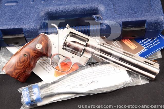 "Colt 6"" Python Elite .357 mag Polished Stainless Double Action Revolver & Case, Model I3060CS"