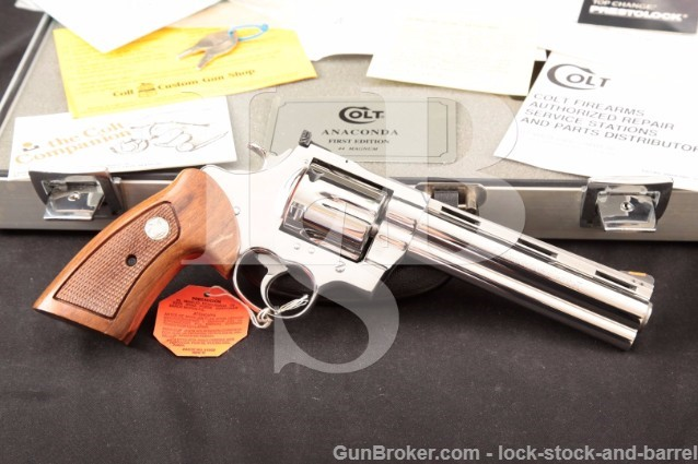 "Colt Anaconda 1st First Edition .44 Magnum 6"" Ultimate Bright Polished Stainless & Americase"