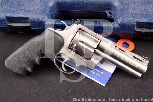 """Colt Anaconda Model MM3040DT 4"""" Stainless .44 mag Doubel Action Revolver & Box (Drilled & Tapped)"""