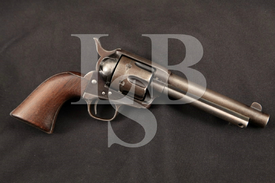 """Colt Artillery Model 1873 S.A.A. SAA 1st Generation Blackpowder, 2nd Year Blue 5 ½"""" Single Action Army Revolver, MFD 1874 Antique"""