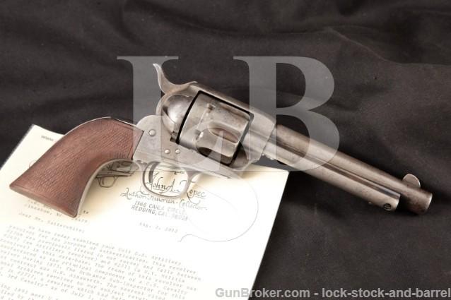 """Colt Artillery Model 1873 SAA 1st Gen Black Powder 2nd Year Frame 5 ½"""" US Revolver 1874-1900 Antique"""