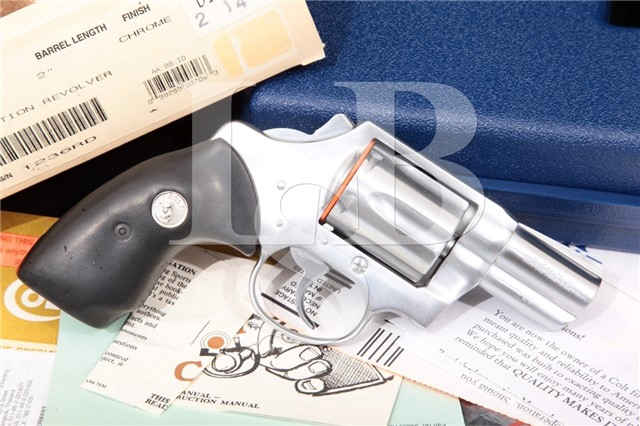 "Colt Bobbed Detective Special 4th Issue D1425CB 2"" Chrome DAO Revolver, Box & Paperwork MFD 1994-1995"
