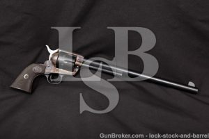"Colt Buntline Special Single Action Army SAA, 1957 2nd Generation Blue 12"" Revolver, .45 Colt C&R"