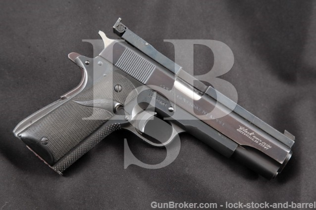 Colt Clark CUSTOM MK IV Series '70 Government .45 Blue 5″ Single Action Semi-Automatic Pistol, 1974