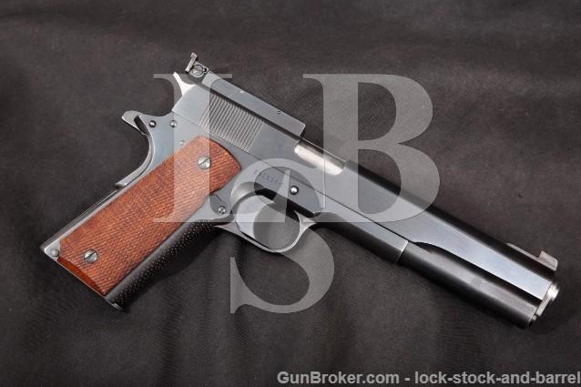 "Colt Clark Custom Long Slide 1911 Blue 6 1/4"" .45 SA Semi-Automatic Pistol, MFD 1963 C&R"