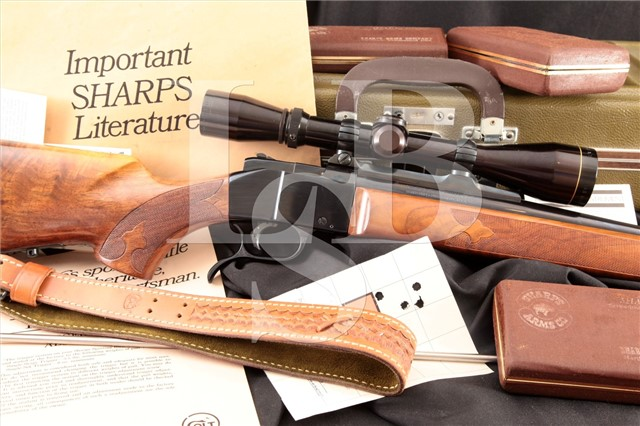Colt Deluxe Sharps Sporting Falling Block .30-06 Sn# CS56 Rifle, Scope, Paperwork & Case Ca. 1970