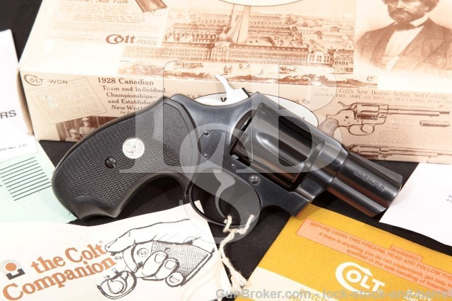 "Colt Detective Special 4th Issue, Blue 2"" SA/DA 6-Rnd Double Action Revolver & Box 1994 38 Special"